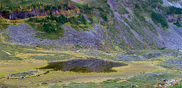 terminal lake panroama at heather meadows