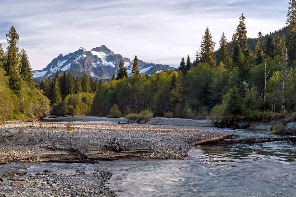 mount shuksan and the nooksack river