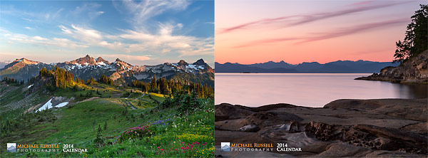 2012 wall calendar on sale cover mount shuksan picture lake