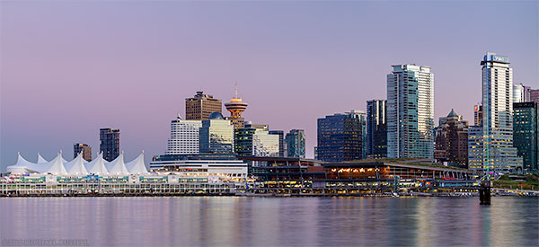 vancouver downtown buildings canada place and convention center