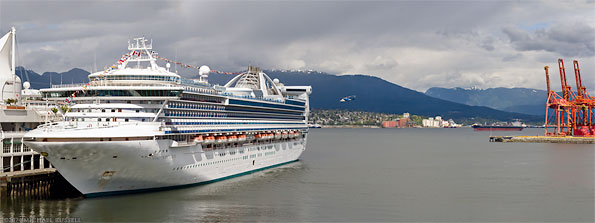 princess cruise ship docked in vancouver