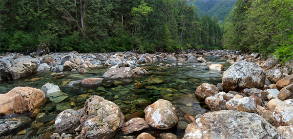 gold creek in golden ears provincial park