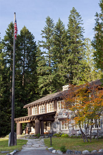 the historic longmire administration building at longmire in mount rainier national park