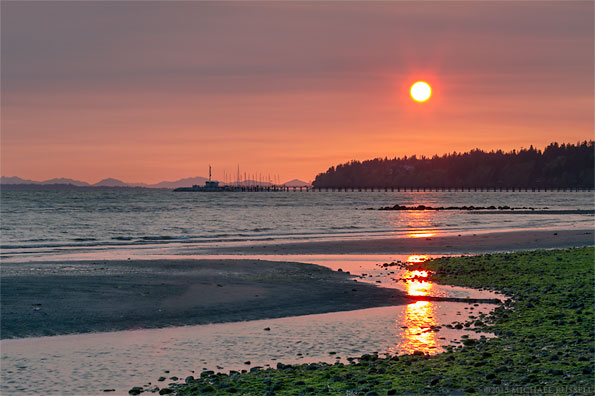 sunset at white rock bc from east beach