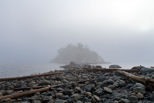 fog at whytecliff park in west vancouver british columbia canada
