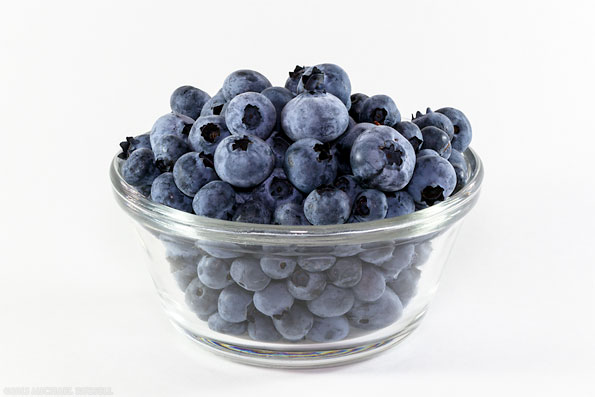 fresh organic highbush blueberries from the fraser valley in a bowl