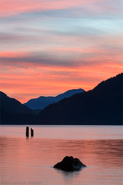 harrison lake sunset near harrison hot springs