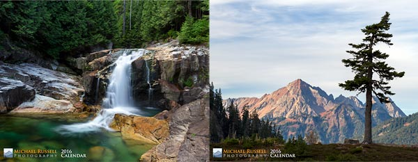 2015 nature calendar british columbia washington mountains