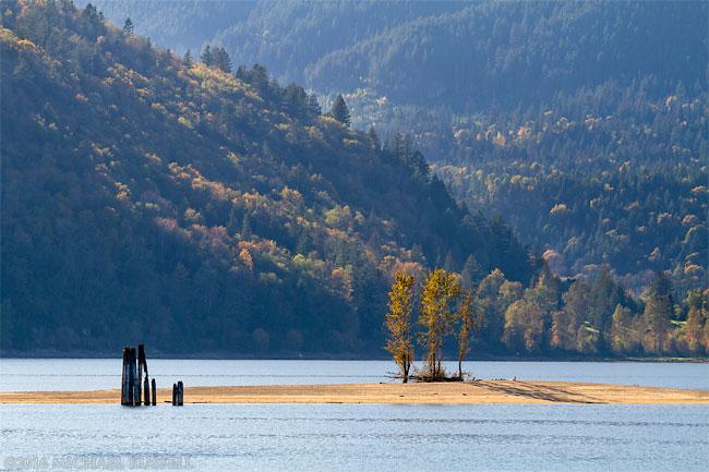 fall at kilby provincial park