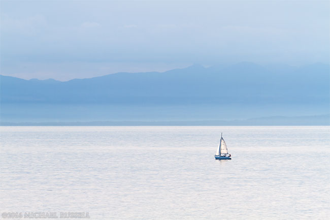top 10 photos - sailboat in the salish sea in british columbia