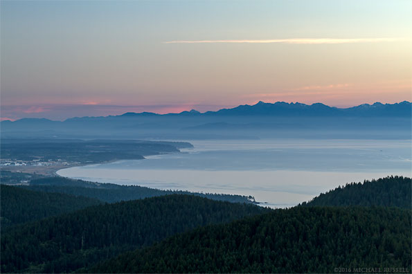 view from mt. erie on fidalgo island in washington state