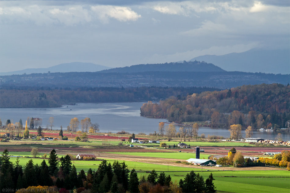 glen valley farmland and the fraser river